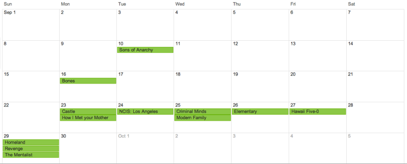 TV Calendar
