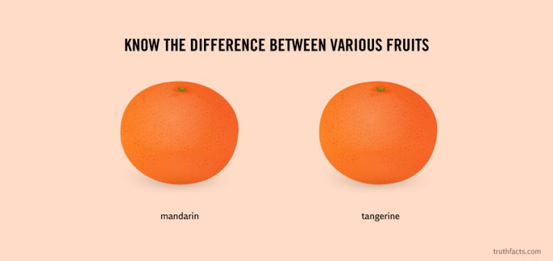 Know the difference between various fruits