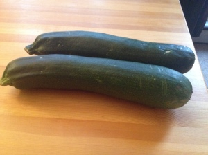 Two Large Zucchinis